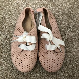 NWT Old Navy Pink Faux Suede Oxfords